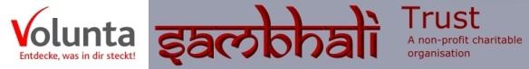 Sambhali header Volunta logo